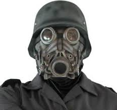 gas mask costume deluxe overhead rubber ww2 german soldier tv gas mask