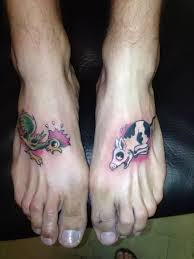 rooster pig foot tattoo meaning green rooster and red pig