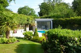 bespoke pool houses with shower and wc custom built garden