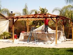 Two Piece BBQ Island W Solid Roof Palapa Extreme Backyard Designs - Extreme backyard designs