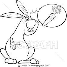 vector stock rabbit dream carrot coloring stock clip art