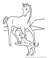 horse coloring pages horse playful dog coloring