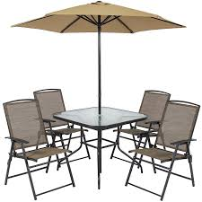 Patio Set Umbrella Best Choice Products 6pc Outdoor Folding Patio Dining