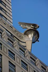 art deco detail on the chrysler building modeled after a radiator