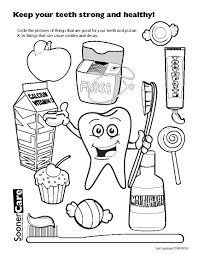 coloring pages of teeth virtren com
