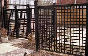 cheap metal fence trellis privacy fencing ideas gardens chain
