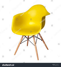 yellow color chair modern designer chair stock photo 412685374