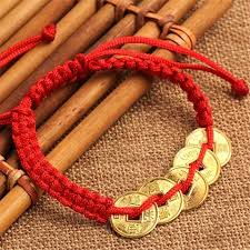 lucky charm red bracelet images Fd4601 new feng shui red string lucky coin charm jpg