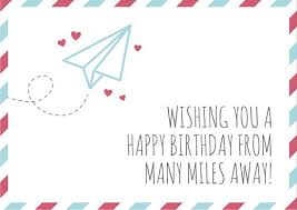 text birthday card airmail envelope distance birthday card templates by canva