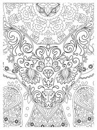 zen abstract cat head animals coloring pages for adults
