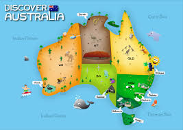 aussie map map of australia major tourist attractions maps with