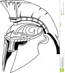 spartan helmet illustration of an ancient greek warrior helmet
