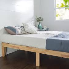 zinus natural full solid wood platform bed frame hd rwpb 14f the