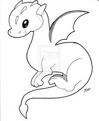 how to draw a baby dragon pencil art drawing