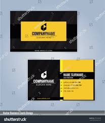 yellow black modern business card template stock vector 574143298