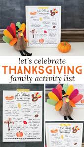 let s celebrate thanksgiving free printable family activity list