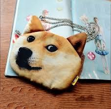 wow such face meme doge single shoulder bag dog head messenger bag