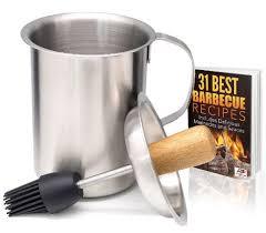 Turkey Basting Recipes Thanksgiving Buy A1pp Marinade Sauce Pot And Silicone Basting Brush