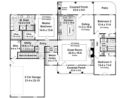 house plan with basement country house plan with 3 bedrooms and 2 5 baths plan 6336