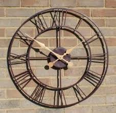 outdoor wall clock large