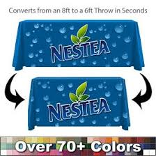 6ft Imprinted Table Cover Custom Promotional Table Covers Customized Tablecloths Full Color