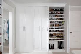 Shoe Closet With Doors Dressing Room Shoe Closet Traditional Closet New York By