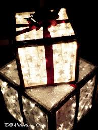 lighted christmas present boxes lighted christmas gift boxes for outside decor these lighted