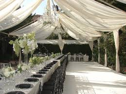 tent draping outdoor open tent no walls with white satin drapery vigen