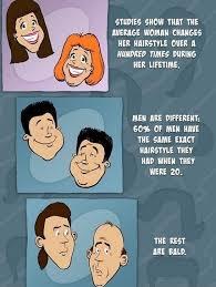 Men And Women Memes - changing hairstyles men vs women www meme lol com funny gifs