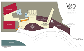 Las Vegas Map Of Hotels by Las Vegas Vdara Hotel Map