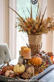 fall table decorations farmhouse fall table centerpiece metal trays rustic farmhouse