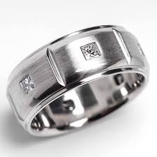 palladium mens wedding band mens javlin diamond wedding band ring brushed palladium