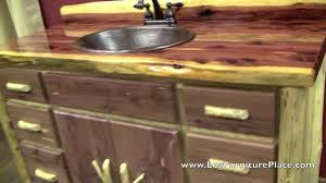 Log Vanity Aromatic Red Cedar Log Vanity From Logfurnitureplace Com Youtube