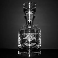 engraved barware military decanter engraving