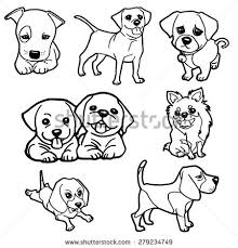puppy coloring book vector stock vector 279234749 shutterstock