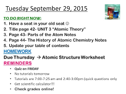 tuesday september 29 2015 homework ppt video online download