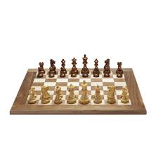 grand english chess set u2013 weighted pieces with solid maple