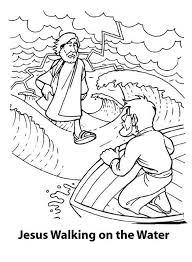 jesus coloring pages printable jesus walks water coloring