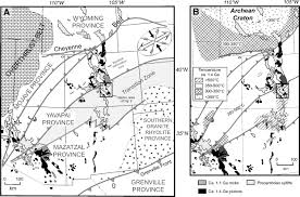 Southwestern United States Map by Characteristics And Implications Of Ca 1 4 Ga Deformation Across
