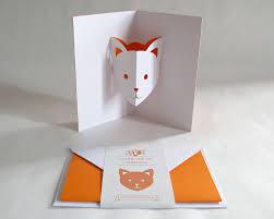 pop up card cat orange creative stationery everyday