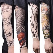 new skin proteive nylon stretchy fake temporary tattoo sleeves