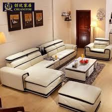 canapé avec pouf date gros véritable en cuir salon canapé avec pouf tabouret l35 dans