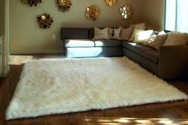 Sheepskin Area Rugs Ivory Fur Rug Tapinfluence Co