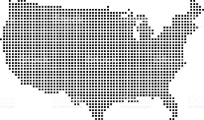 united states map black and white usa map dots dotted us map vector outline pixelated united states