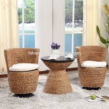 Wicker Living Room Chairs by Water Hyacinth Natural Rattan Living Room Large Leisure Lounge