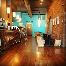 turquoise accent wall with exposed brick wall decor pinterest