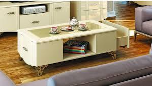 Wohnzimmer Tisch Deko Couchtisch Creme