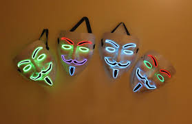 Guy Fawkes Mask Halloween by Led Guy Fawkes Mask V For Vendetta Multi Color Tie Not