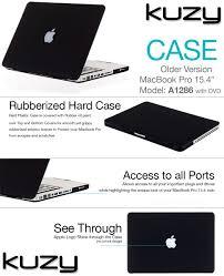 amazon com kuzy rubberized plastic case for older macbook pro