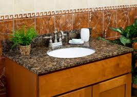 Granite Top Bathroom Vanity by Lesscare U003e Bathroom U003e Vanity Tops U003e Granite Tops U003e Balticbrown
